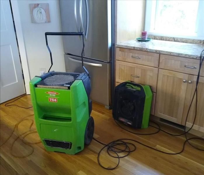Dehumidifier and air mover.