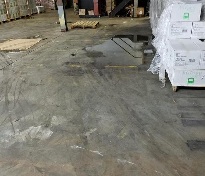 Industrial Cleaning Space with Water Damage