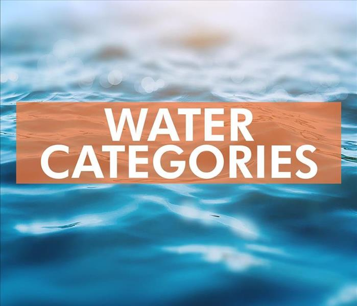 Why SERVPRO What to Know About Water Categories